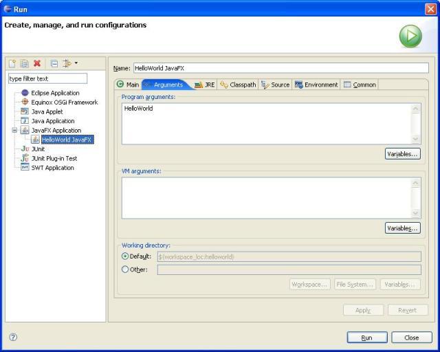 Eclipse JavaFX Plug-in Quick Start Tutorial
